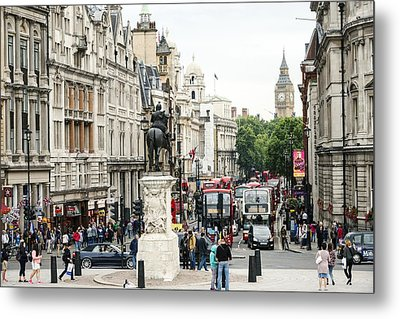 London Whitehall Metal Print