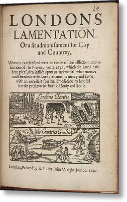 London's Lamentation Metal Print by British Library