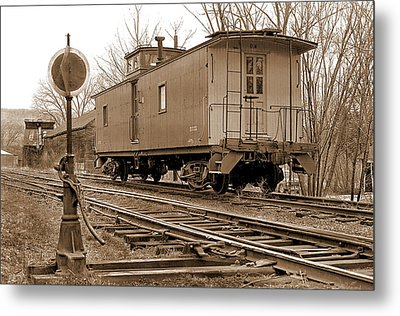 Lone Caboose Metal Print by Mike Flynn