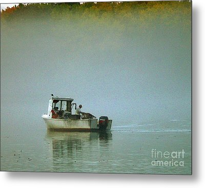 Metal Print featuring the photograph Lone Lobsterman by Christopher Mace