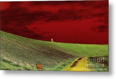 Lone Man And His Best Friend Metal Print by JCYoung MacroXscape