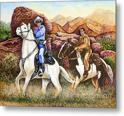Lone Ranger And Tonto Ride Again Metal Print
