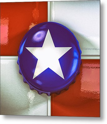 Lone Star Beer Metal Print by Scott Norris