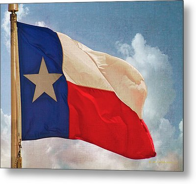 Lone Star Flag Metal Print by Walter Herrit