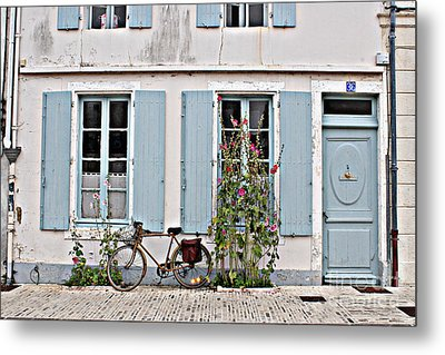 Lonely Bicycle... Metal Print by Cendrine Marrouat
