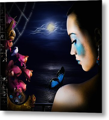 Lonely Blue Princess And The Villains Metal Print