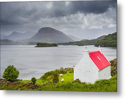 Metal Print featuring the photograph Lonely Cottage by Maciej Markiewicz