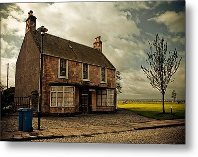 Lonely House On The Shore Of The River Forth. Culross Sketches. Scotland Metal Print by Jenny Rainbow