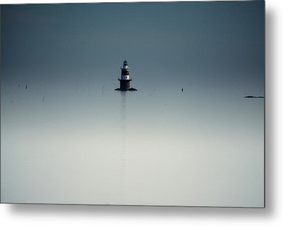 Lonely Lighthouse  Metal Print by Karol Livote