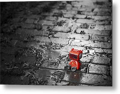 Lonely Little Robot Metal Print by Scott Norris