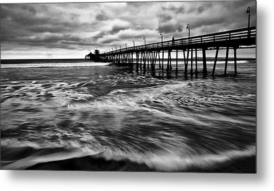 Metal Print featuring the photograph Lonely Man On The Pier by Ryan Weddle