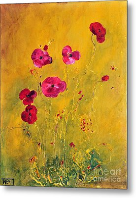 Lonely Poppies Metal Print