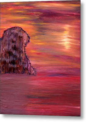 Lonely Rock Metal Print by Vadim Levin