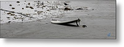 Metal Print featuring the photograph Lonely Surfboard by Chris Thomas