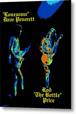 Lonesome Dave And Bottle Rod Metal Print