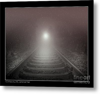 Lonesome Night Train Metal Print