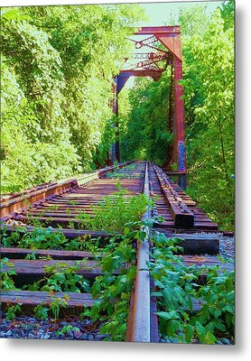 Lonesome Railroad #5 Metal Print by Robert ONeil