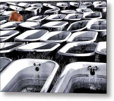 Lonesome Tub Metal Print