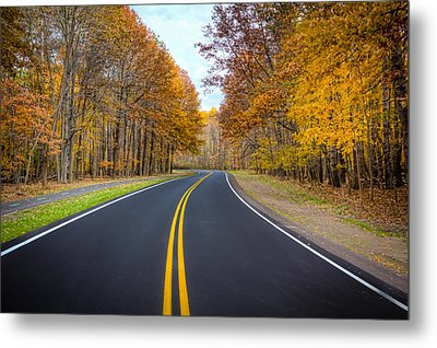 Long And Winding Road Metal Print by Brent Durken