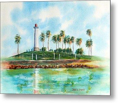 Long Beach Lighthouse  Version 2 Metal Print by Debbie Lewis