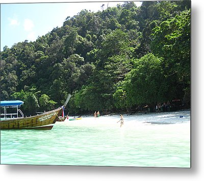 Long Boat Tour - Phi Phi Island - 0113170 Metal Print by DC Photographer