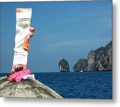 Long Boat Tour - Phi Phi Island - 0113182 Metal Print by DC Photographer