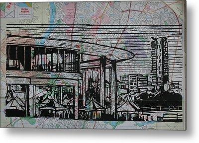 Long Center On Map Metal Print
