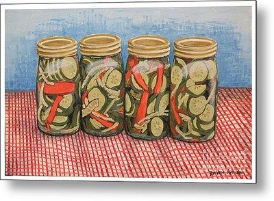 Long Island Pickles Metal Print by Reuven Gayle