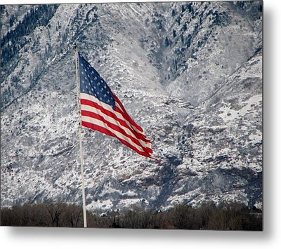 Metal Print featuring the photograph Long May She Wave by John Glass