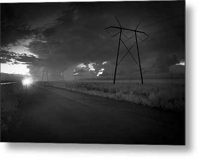 Metal Print featuring the photograph Long Road Home by Bradley R Youngberg
