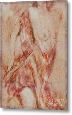 Long Scarf Metal Print by Gabrielle Schertz