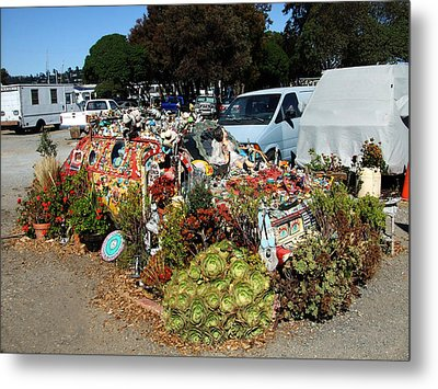 Long Term Parking Sausalito Style Metal Print by Richard Reeve