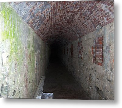 long tunnel in Ft Adams Metal Print by Catherine Gagne