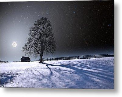 Metal Print featuring the photograph Long Winter Shadows by Larry Landolfi