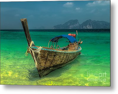Metal Print featuring the photograph Longboat by Adrian Evans
