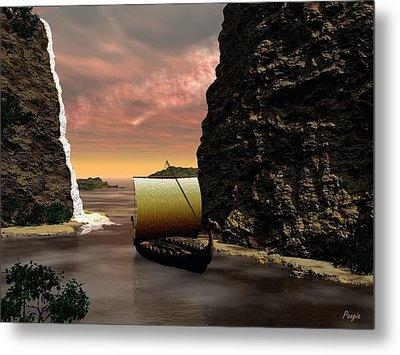 Longboat Metal Print by John Pangia