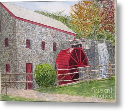 Longfellow's Gristmill Metal Print