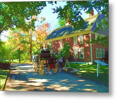 Longfellows Wayside Inn Metal Print by Barbara McDevitt