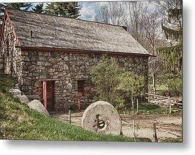 Longfellow's Wayside Inn Grist Mill Metal Print by Jeff Folger