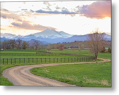 Longs Peak Springtime Sunset View  Metal Print by James BO  Insogna