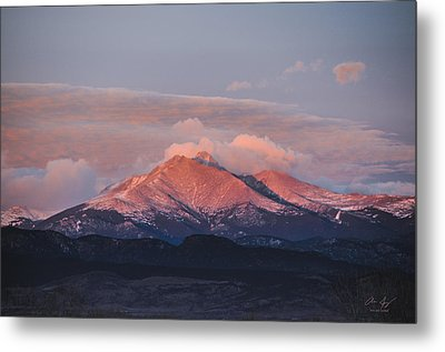 Longs Peak Sunrise Metal Print