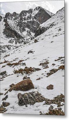 Longs Peak -  Vertical Metal Print by Aaron Spong