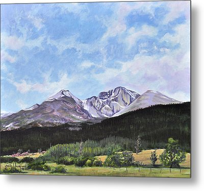 Longs Peak Vista Metal Print by Craig T Burgwardt