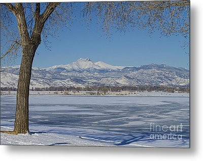 Longs Peaks Winter Landscape View Metal Print by James BO  Insogna