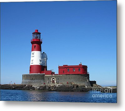 Longstone Lighthouse Metal Print by David Grant