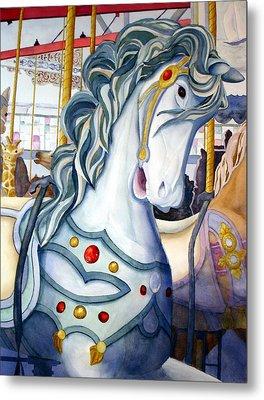 Looff Carousel Metal Print by Daydre Hamilton