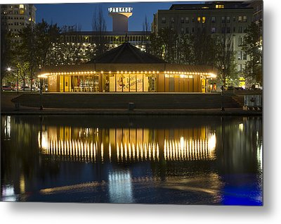 Looff Carrousel Reflection Metal Print