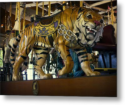 Looff Carousel Tiger 2 Metal Print by Daniel Hagerman