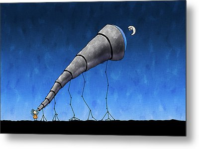 Look At Me Moon Metal Print