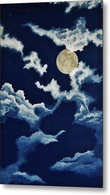 Look At The Moon Metal Print